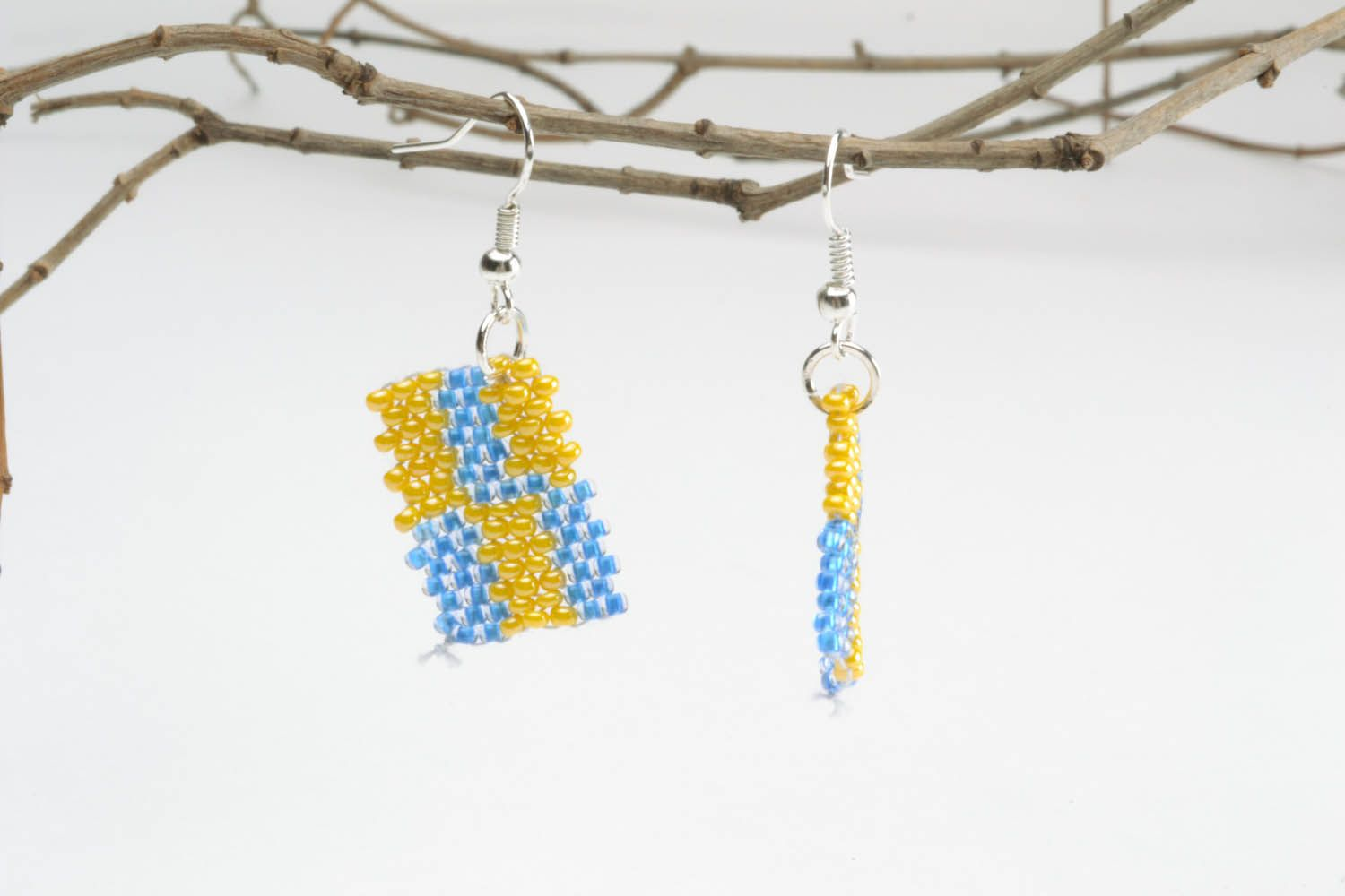Earrings with polymer beads photo 1