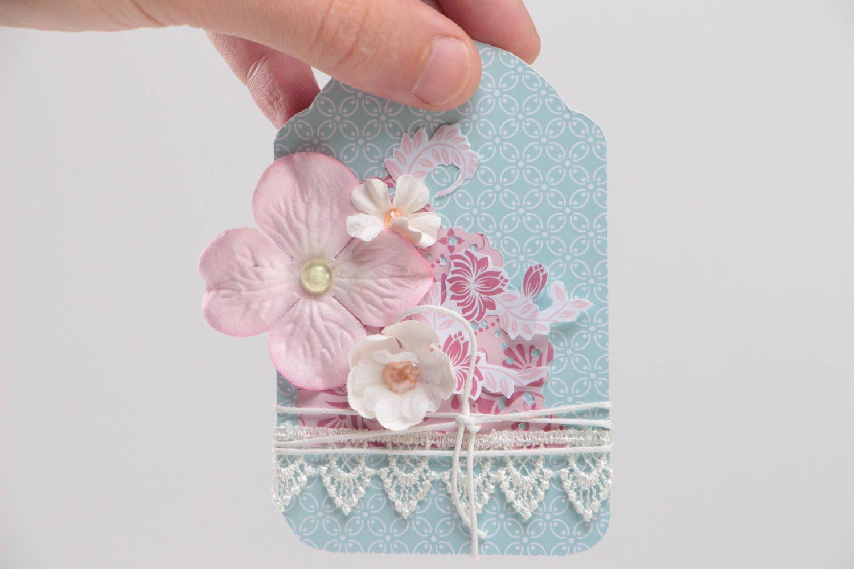 Открытка с орхидеями скрапбукинг, для девочек