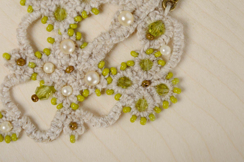 Lacy crochet earrings Orient photo 2