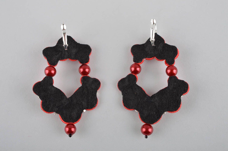 Unusual handmade soutache earrings beaded earrings artisan jewelry designs photo 4