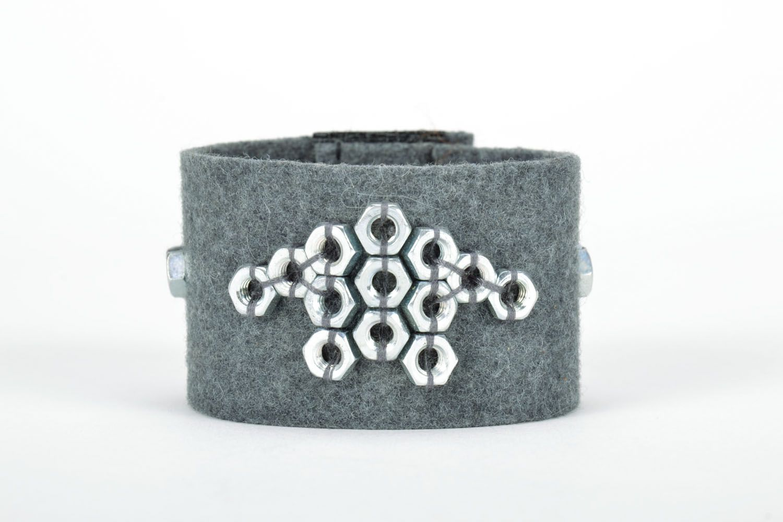 Filz Armband mit Aufschlägen foto 3