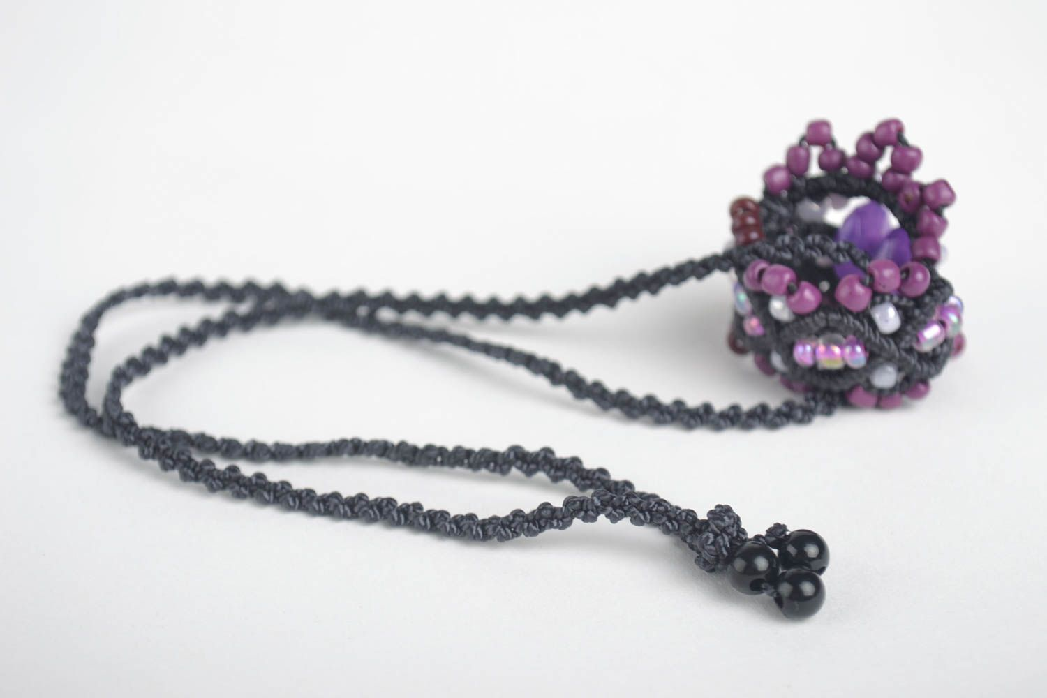 Macrame necklace handmade necklace homemade jewelry women accessories gift ideas photo 3