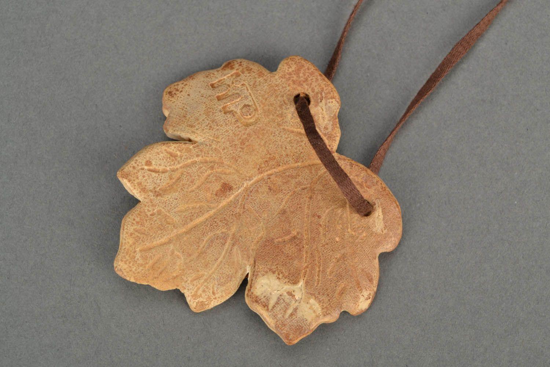 Homemade neck pendant Maple Leaf photo 5