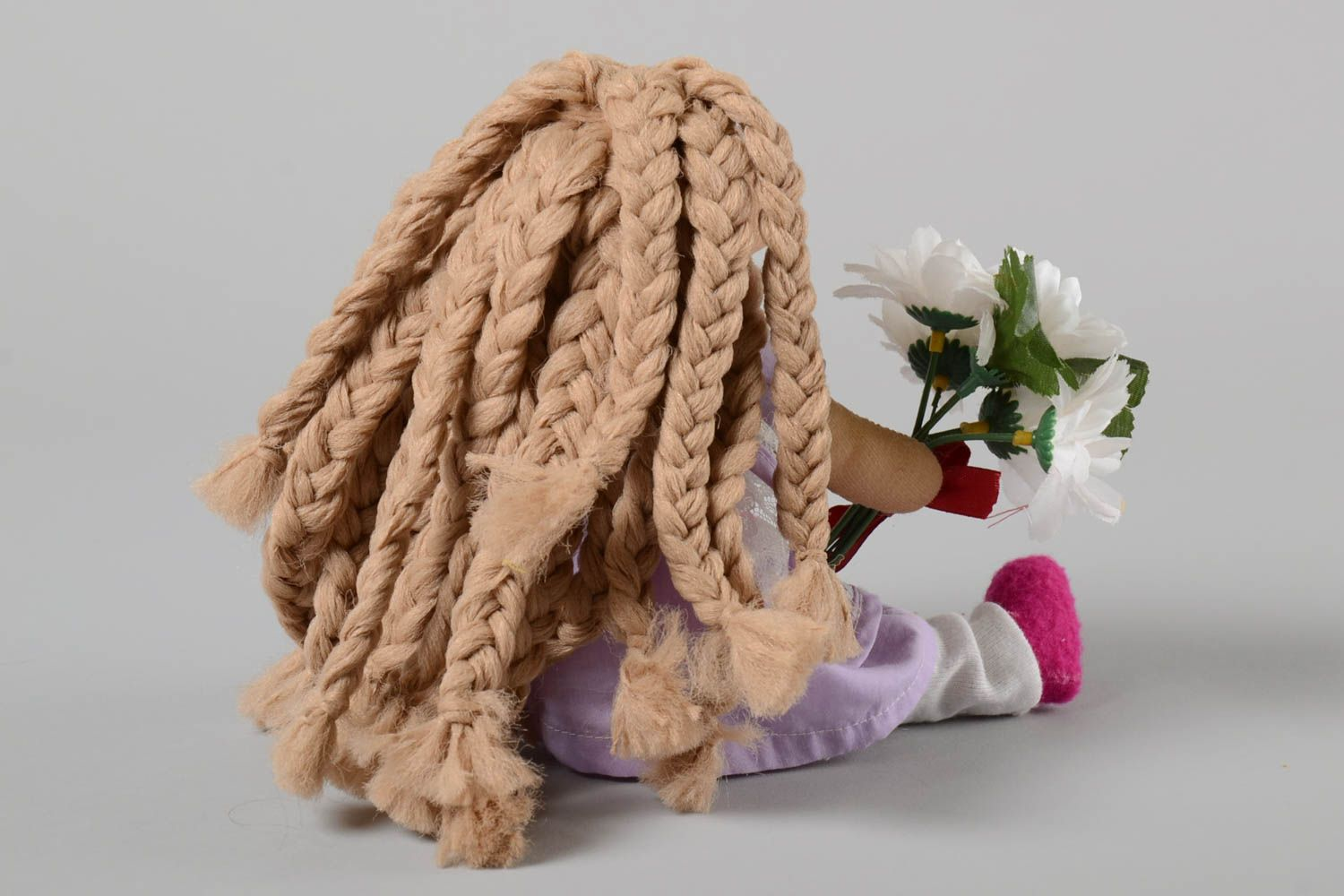 Unusual handmade soft toy stuffed toy rag doll house and home gifts for kids photo 4