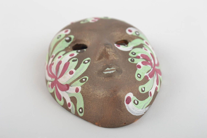 Beautiful homemade designer clay fridge magnet souvenir Venetian mask photo 4