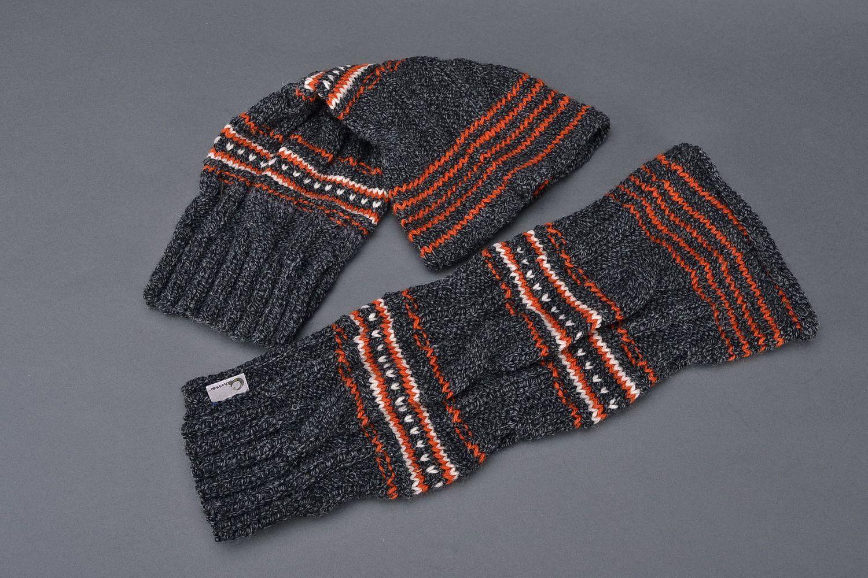 Dark woolen legwarmers photo 3