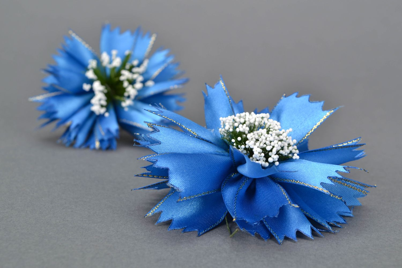 Kanzashi flowers Cornflowers photo 1