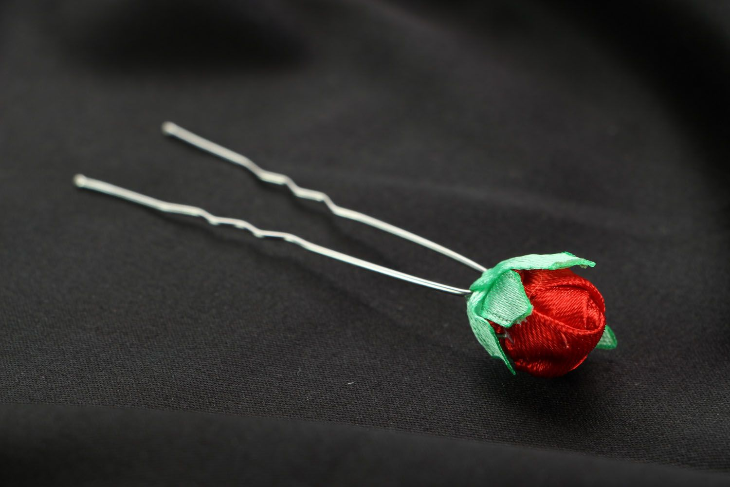 Hairpin with a flower photo 2