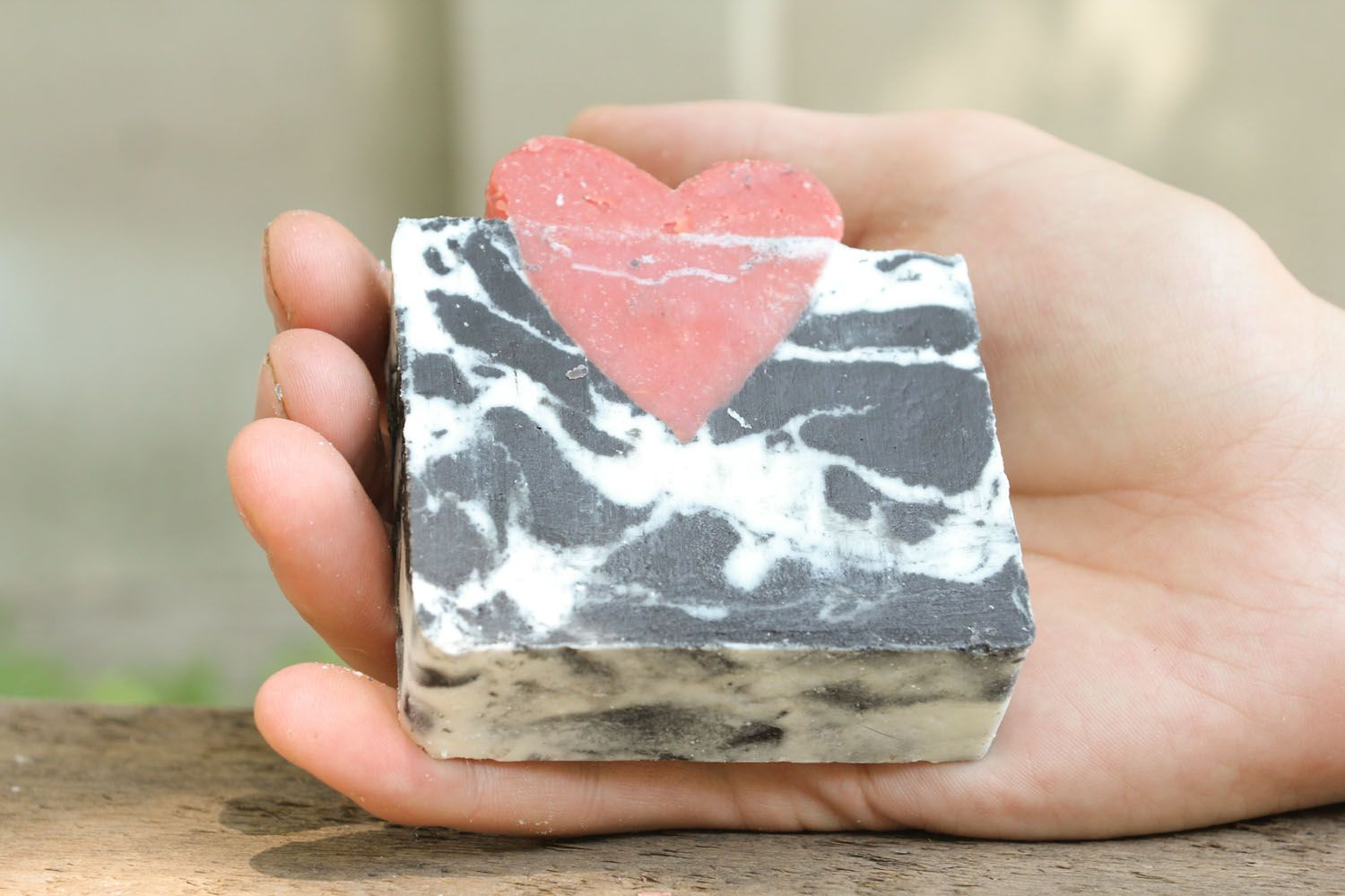 Soap with grape and apricot seeds photo 1