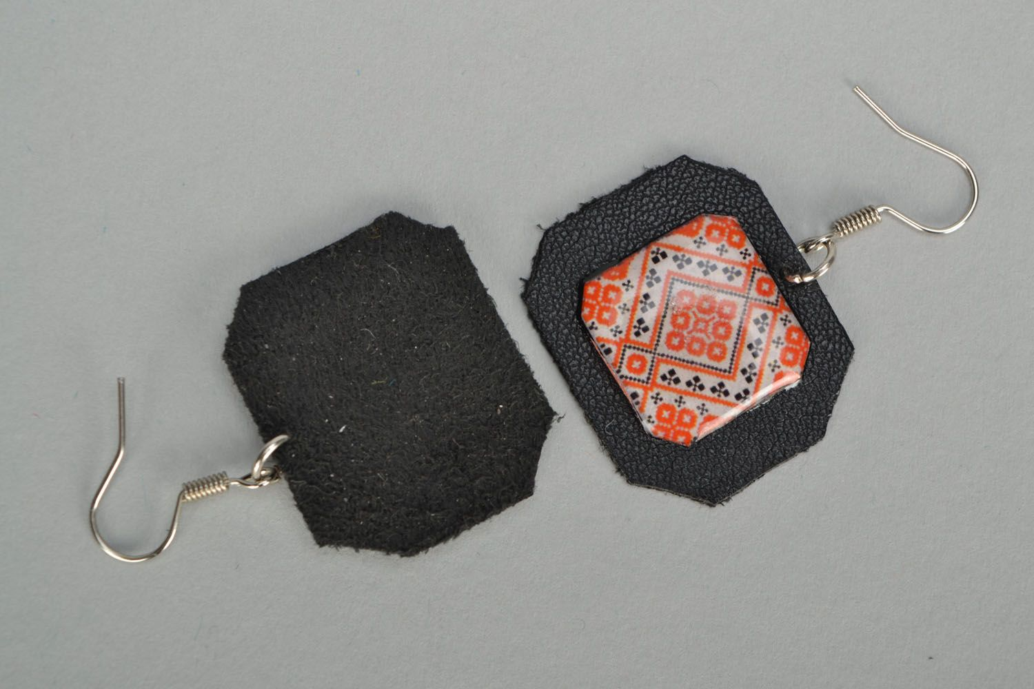 Unusual earrings Embroidery photo 3