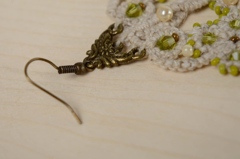 Lacy crochet earrings Orient photo 5