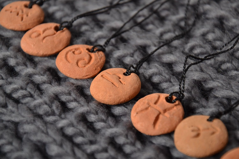 Clay Zodiac pendant for Libra photo 1