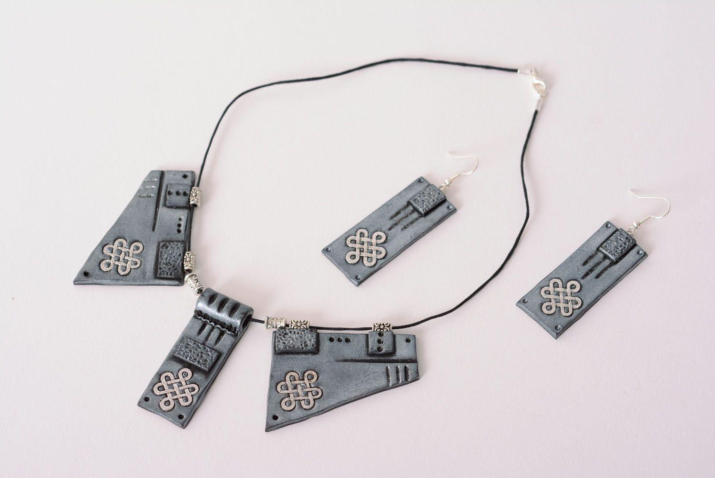 Polymer clay jewelry set photo 3