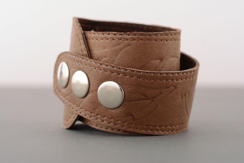 Leather bracelet unisex photo 2