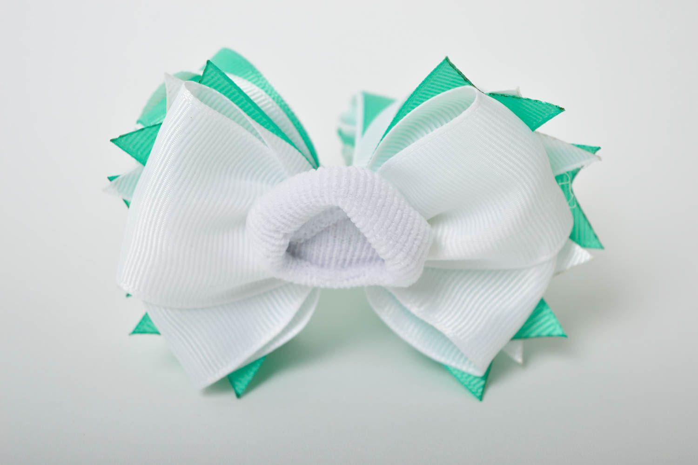 Handmade girls hair bow hair scrunchie bow hair tie designer accessories photo 3