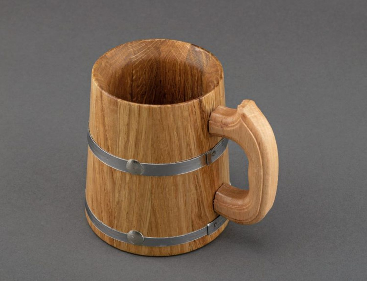 cups,glass Big wooden mug for decorative use only - MADEheart.com