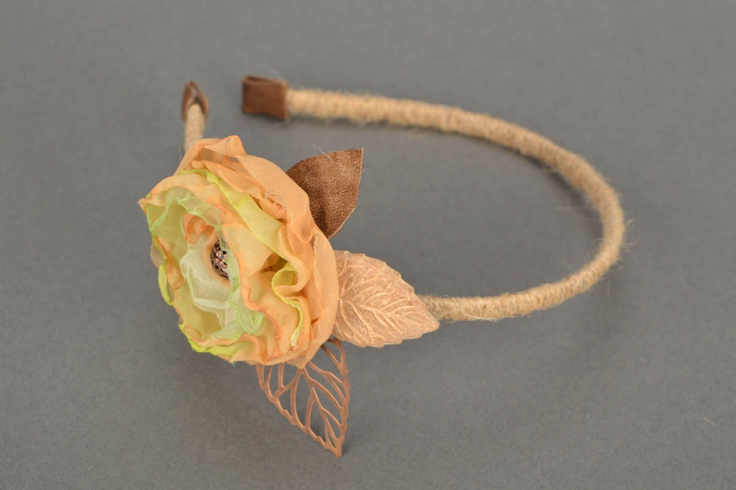 Head band with flower photo 3