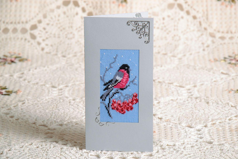 Designer card Bullfinch photo 1
