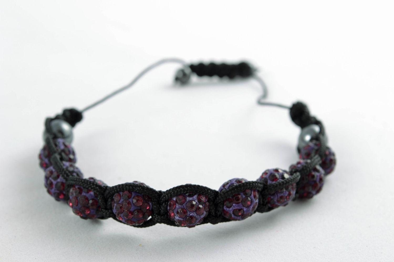 Bracelet with beads and nylon thread photo 4