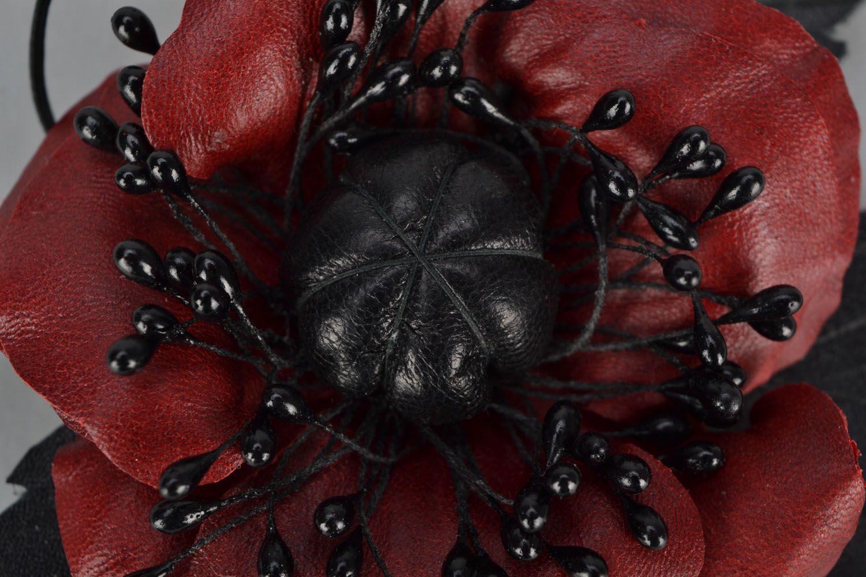 Poppy flower brooch photo 4