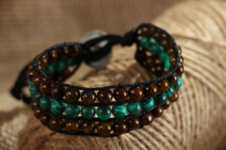 Designer bracelet with onyx and malachite photo 5