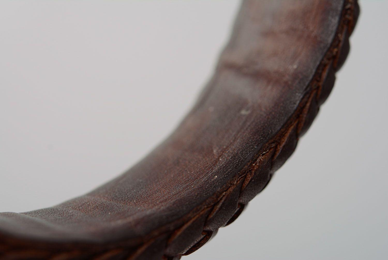 Geflochtenes Armband aus Leder foto 3