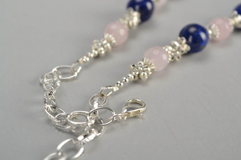 Halskette mit Natursteinen foto 5