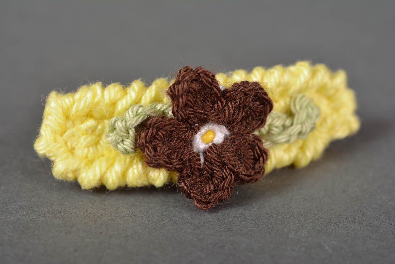 9a17e47a6 Pasador para el pelo hecho a mano adorno a crochet accesorio para el cabello