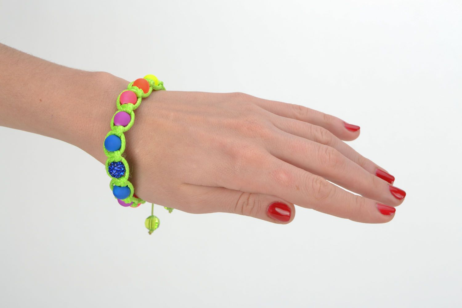 Bracelet woven of colorful beads photo 1