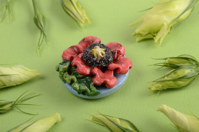 Ceramic fridge magnet cute souvenir made of clay stylish kitchen decor photo 1