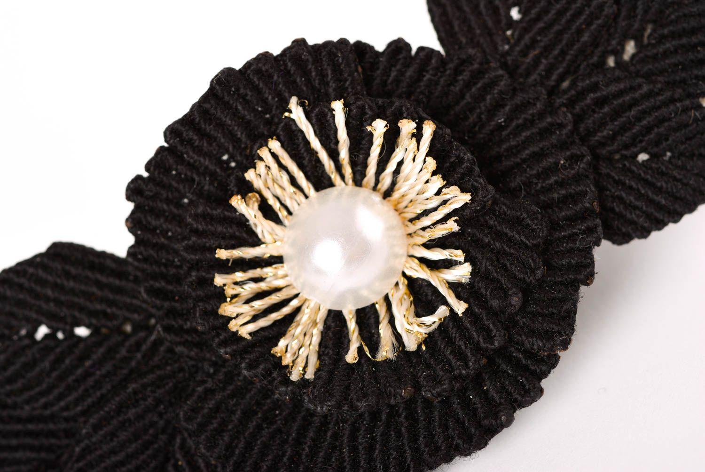 Haar Spange handgemacht Mode Accessoire in Schwarz Geschenk für Mädchen stilvoll foto 3