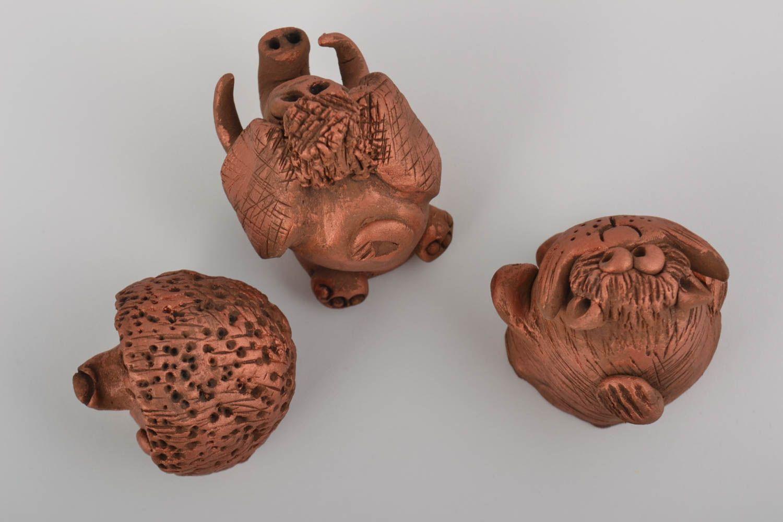 Madeheart figuras decorativas hechas a mano juego de 3 for Decoracion de casas hechas a mano