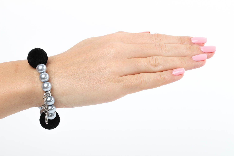Handmade bracelet glass accessory unusual bracelet for girls designer jewelry photo 5