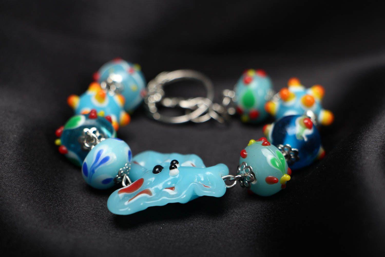 Bright children's beaded bracelet photo 2
