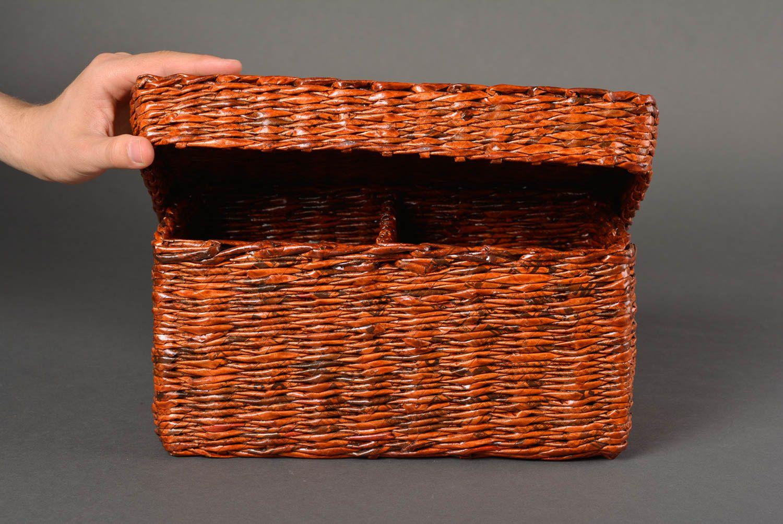 madeheart aufbewahrung box handmade korb f r interieur wohnzimmer deko mit deckel. Black Bedroom Furniture Sets. Home Design Ideas