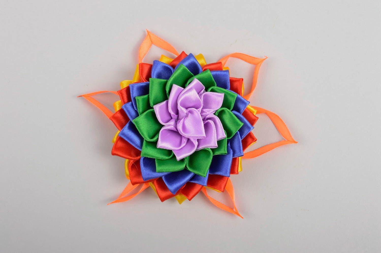 Handmade flower hair clip unusual bright hair clip cute accessory for kids photo 5