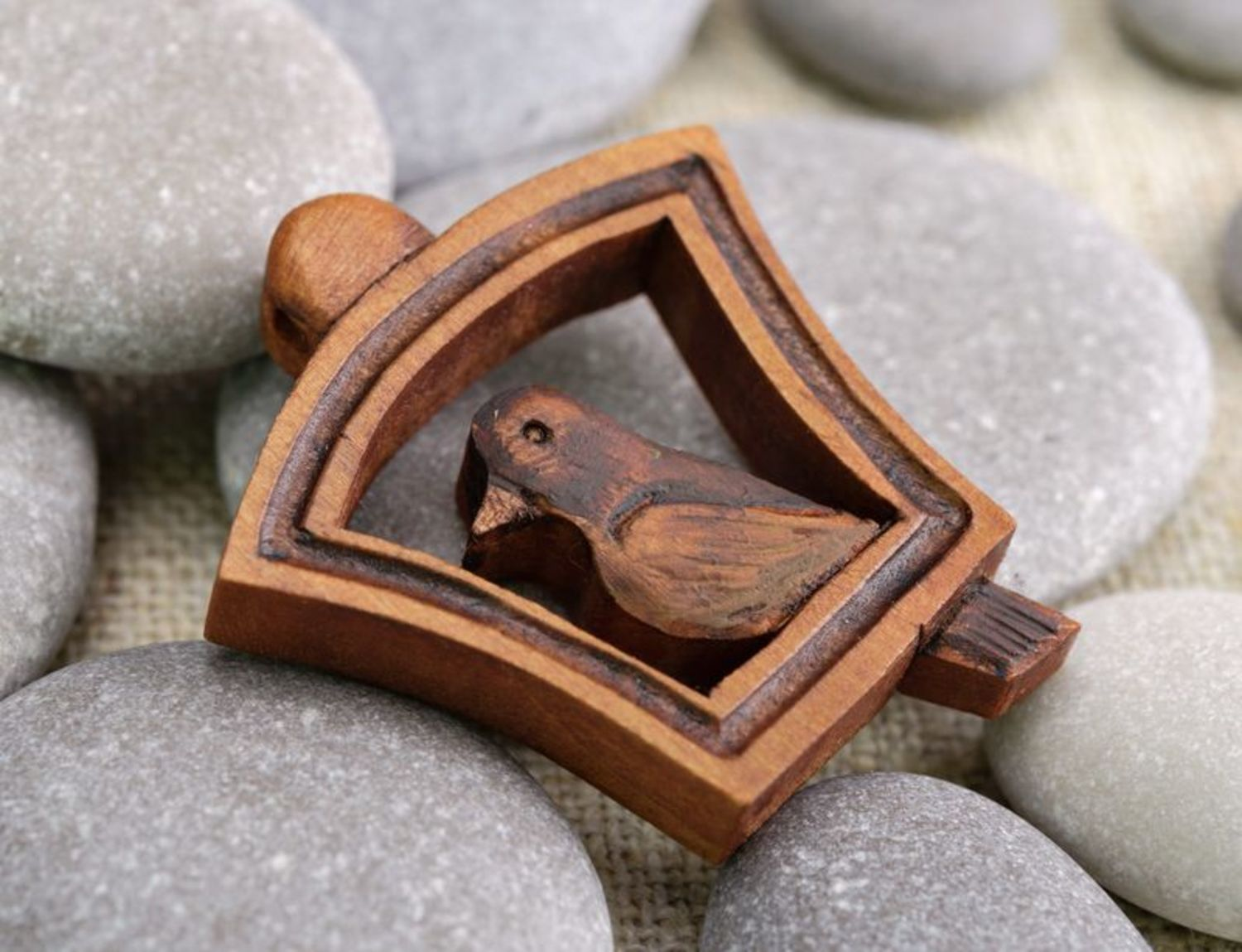Wooden pendant Bird photo 2