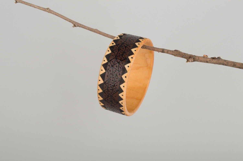 Браслеты ручной работы браслет из дерева красивый браслет дизайнерское украшение фото 1