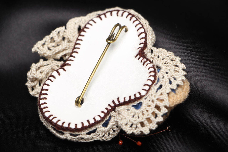 Unusual fabric brooch Winter Still Life photo 3