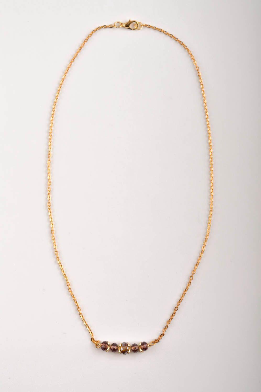 Handmade Schmuck Set Collier Halskette Damen Armband  mit Kristallen modisch foto 3