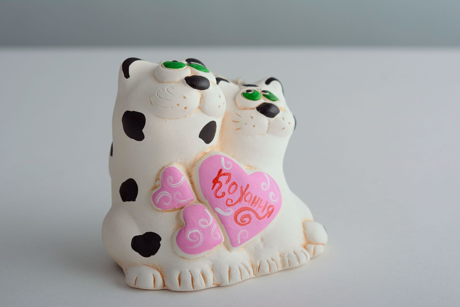 Homemade clay bell Cat's Wedding photo 1