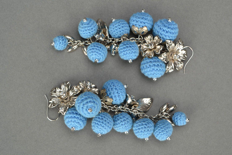 Crochet earrings Cornflower Paradise photo 3