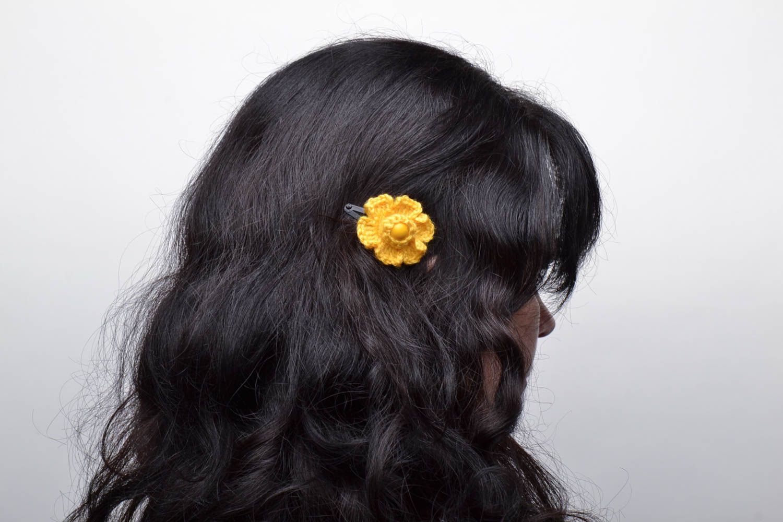 Bright crochet hair clips photo 5