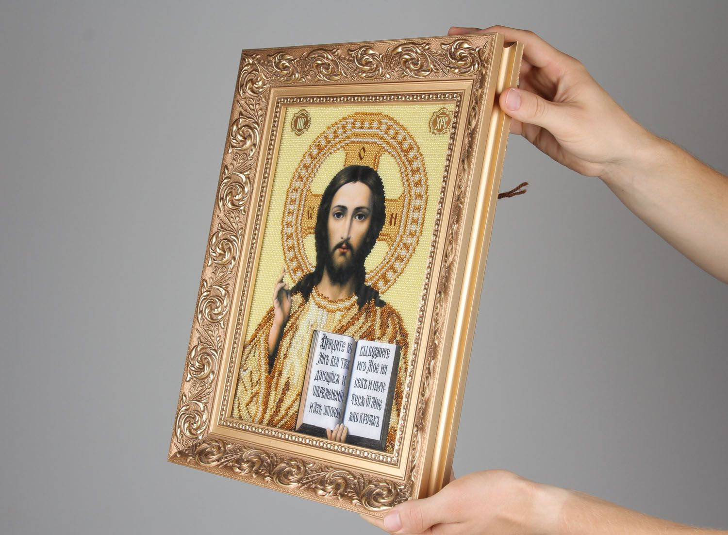 Embroidered icon of Jesus Christ photo 2