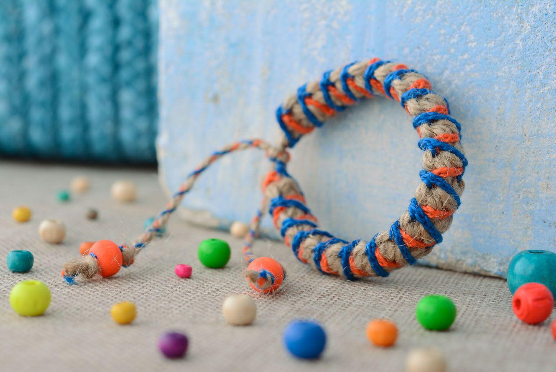 Плетеный браслет детский фото 1