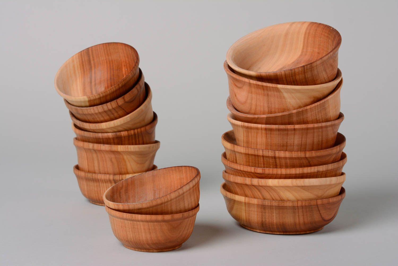 Madeheart juego de utensilios de cocina originales platos de madera artesanales 16 piezas - Utensilios de cocina originales ...