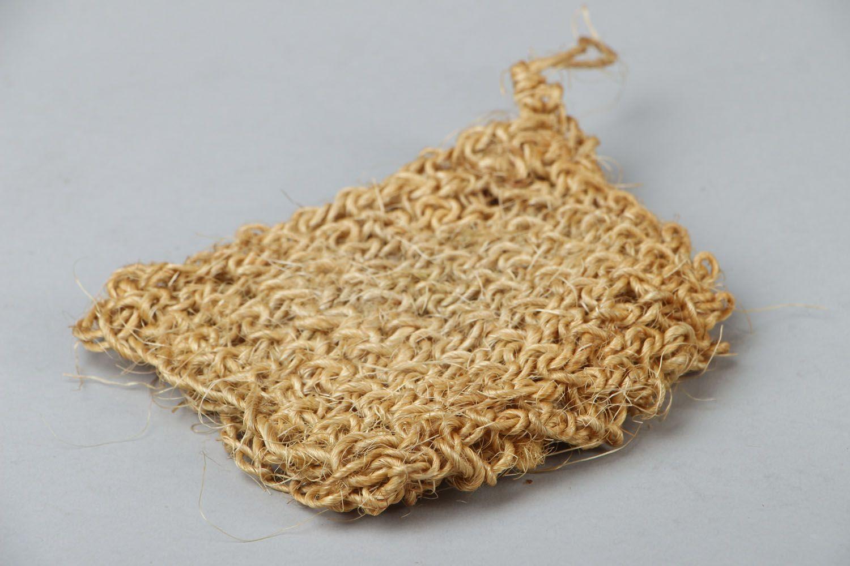 Sisal crochet body scrubber  photo 2