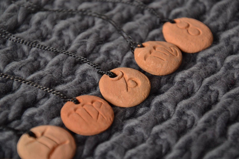 Clay pendant for Capricorn zodiac sign photo 1