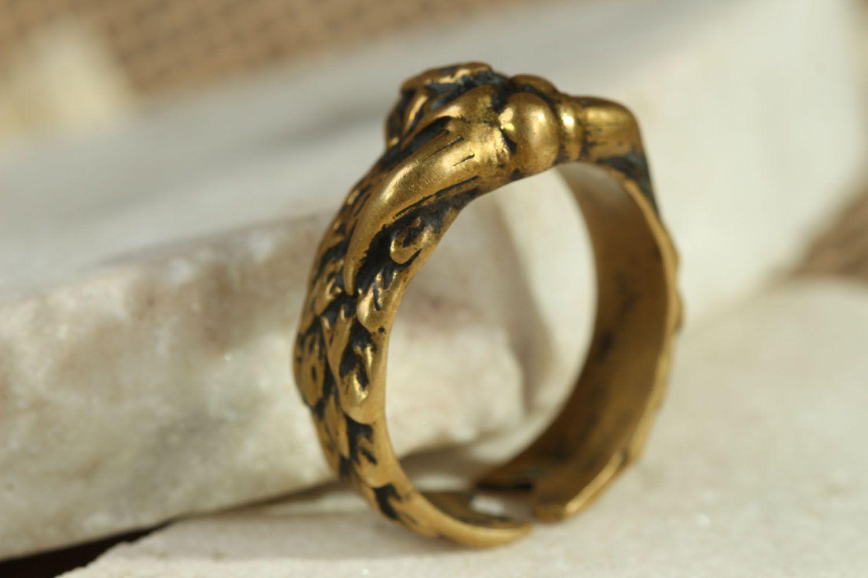 Handgemachter Ring aus Bronze foto 2