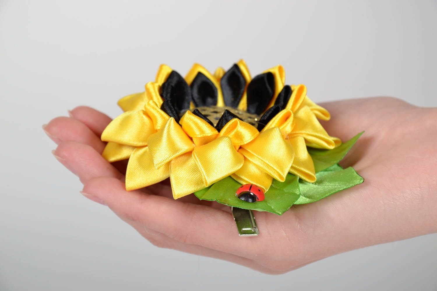 Hair clip Sunflower photo 4